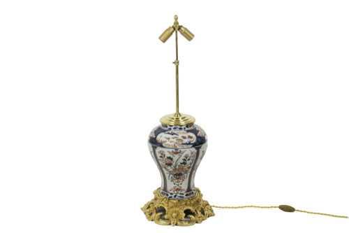 lampe porcelaine imari bronze doré 2