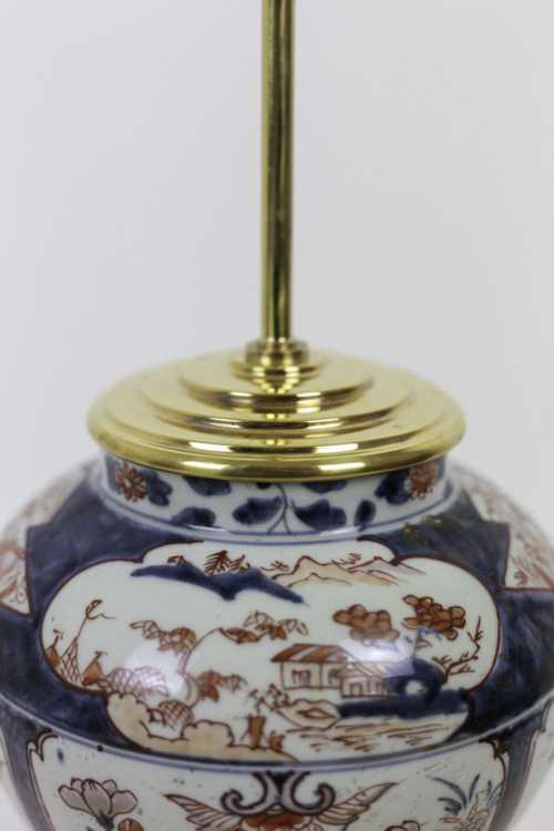 lampe porcelaine imari bronze doré top