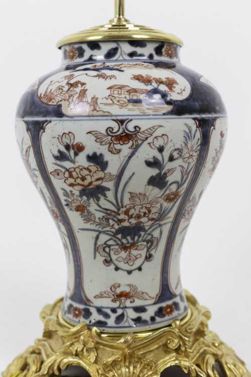 lampe porcelaine imari cartouches