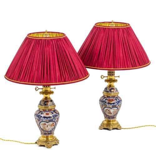 Paire de lampes Imari - la paire